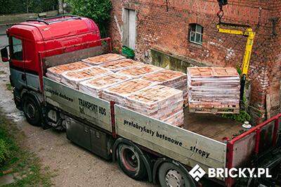 Transport cegieł HDS Szczecin